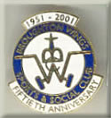 Broughton Wings Sports And Social Club Enamel Badge