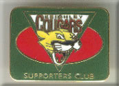 Keighley Cougars RLFC Supporters Club Enamel Badge