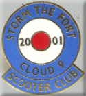 Cloud 9 Scooter Club Enamel Badge